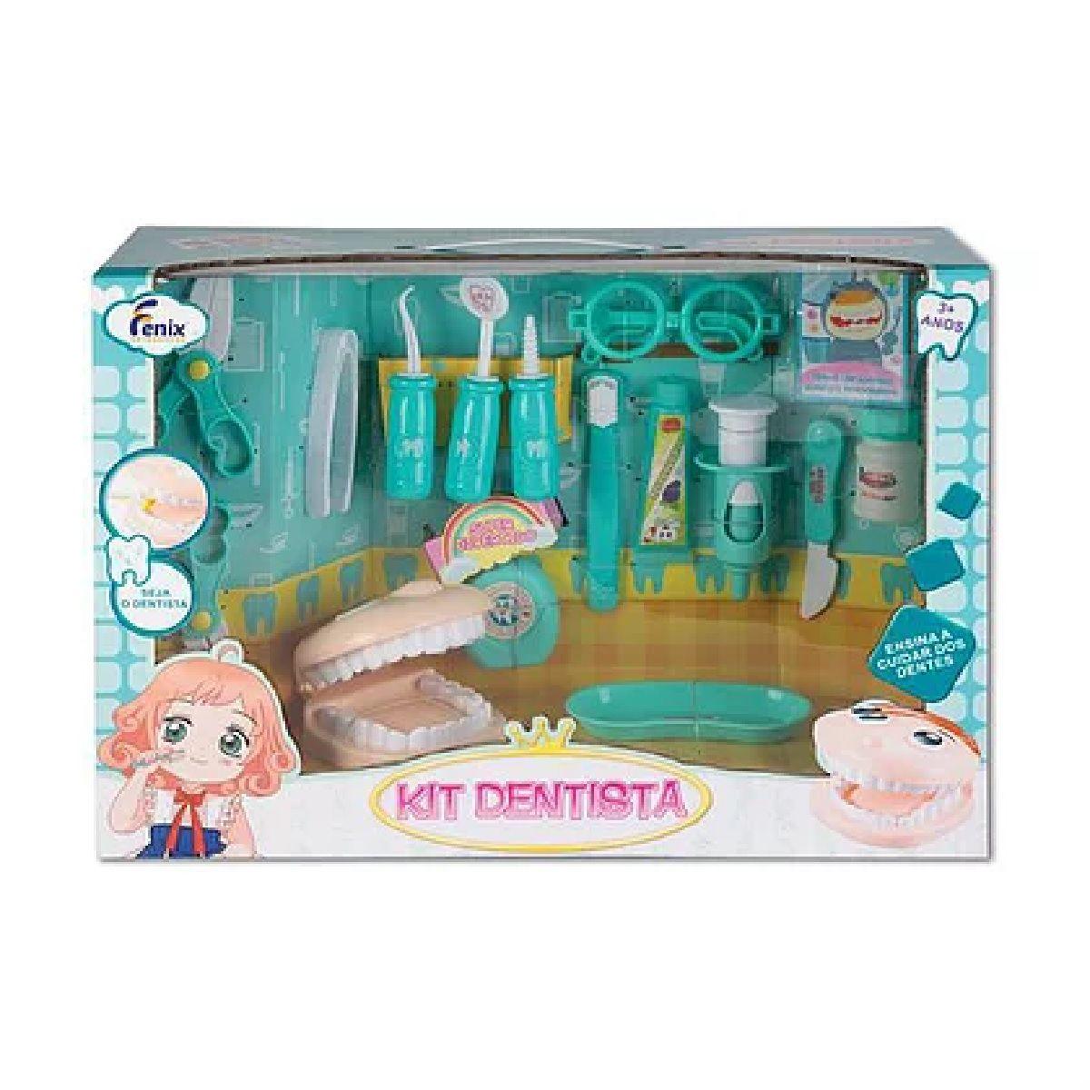 Kit Dentista Infantil Grande 16 peças Fenix DTE-553