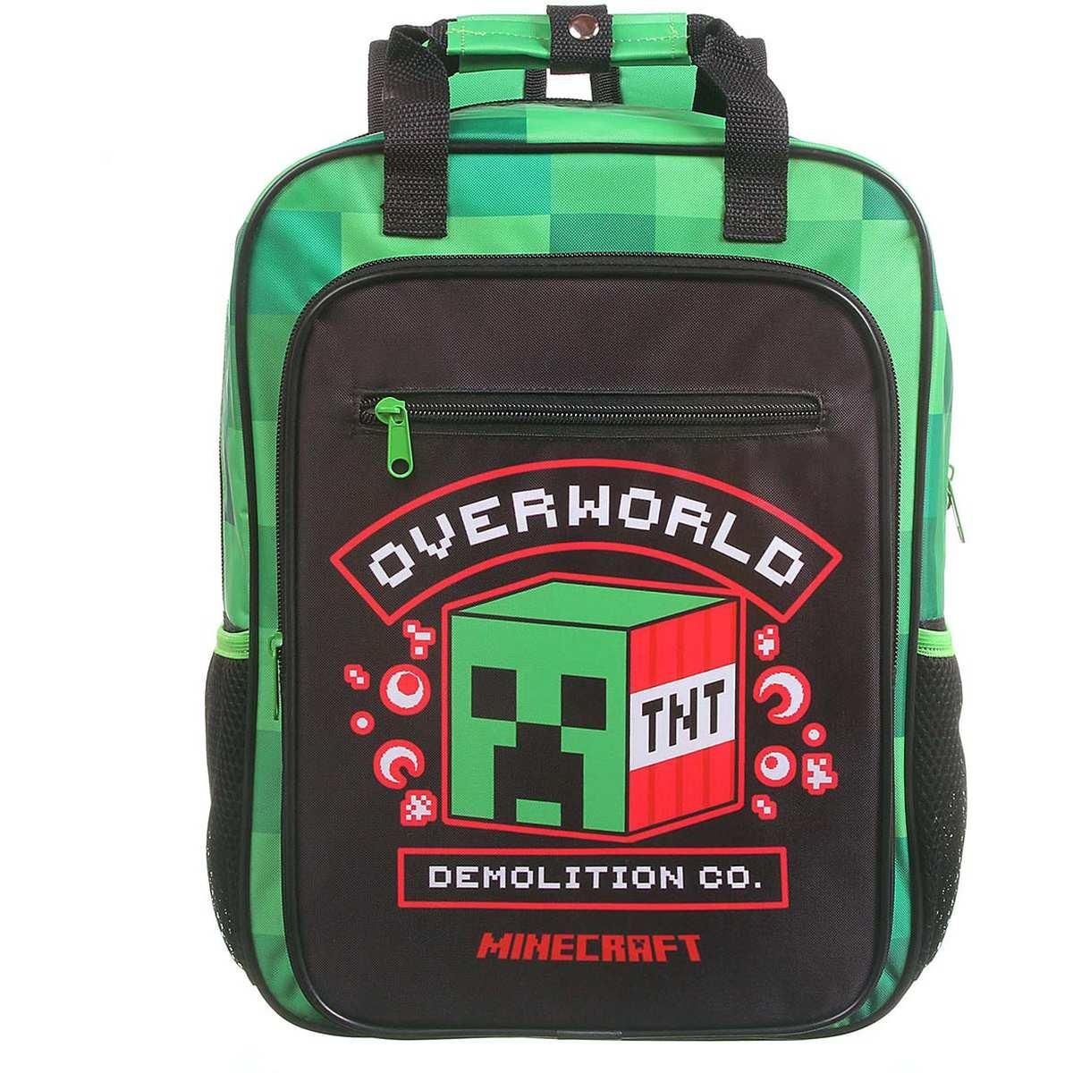 Kit Minecraft Max Super 2pç Mochila Costas + Estojo Duplo DMW 2020