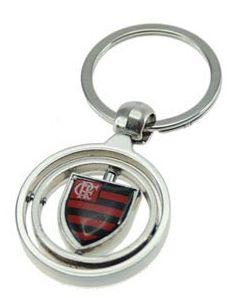 Kit torcedor do Flamengo com 2 peças - Caneca Vidro 630ml com Brasão + Chaveiro Metal Gira