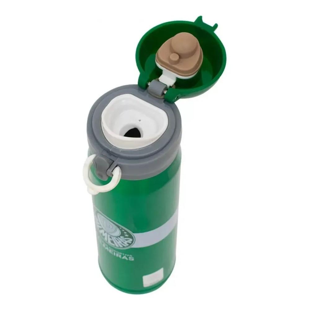 Kit Torcedor Palmeiras Garrafa Térmica Inox 420ml QH043-3 + Caneta Metal Touchscreen JY1201B-3