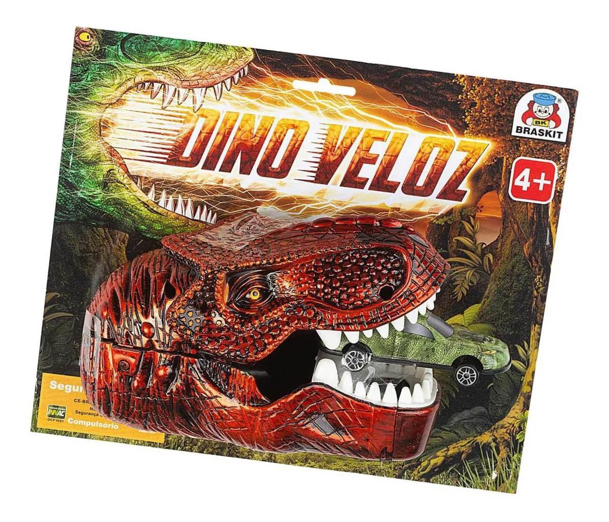 Lançador de Carrinhos Dinossauro Dino Veloz Braskit 730-9