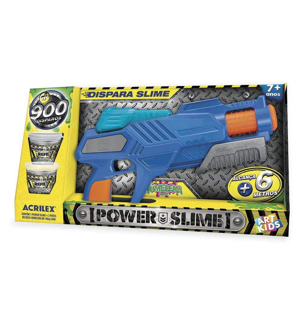 Lançador de Slime Kimeleka Power Slime Acrilex Art Kids 524