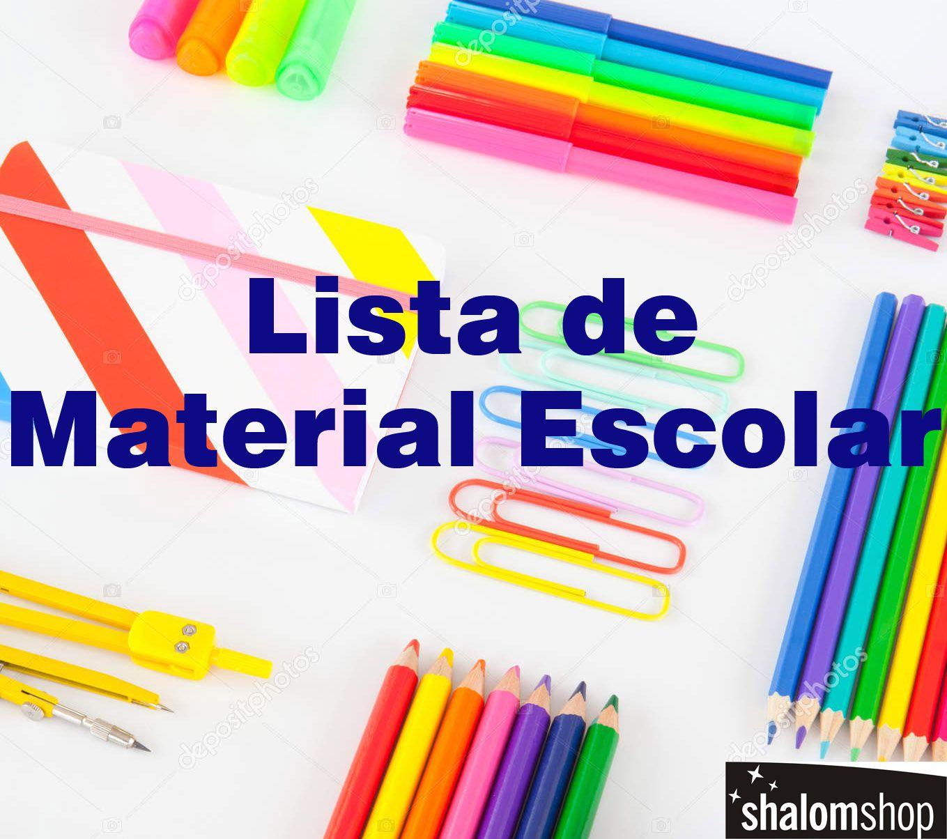Lista Material Escolar Universitário com 15 produtos ShalomShop