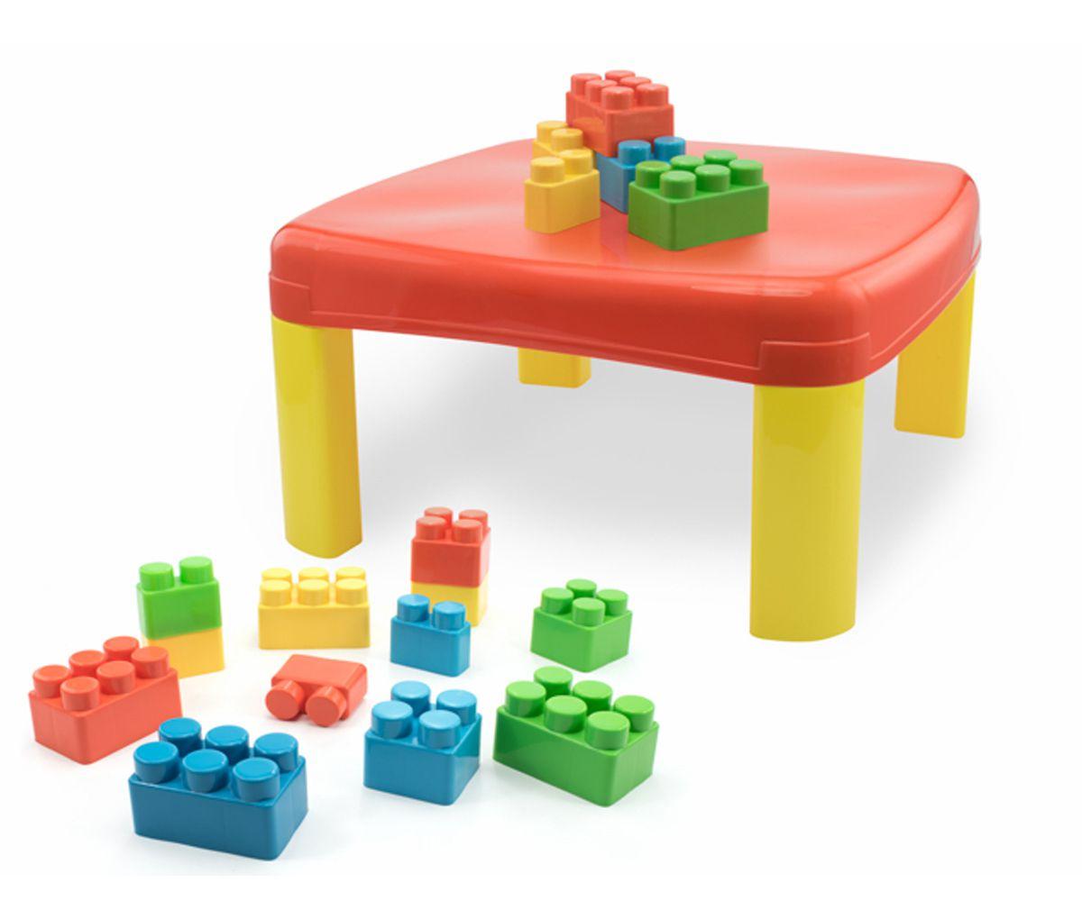 Mesa Infantil Kids Pedagógica com 12 Blocos Grandes Simo Toys 305