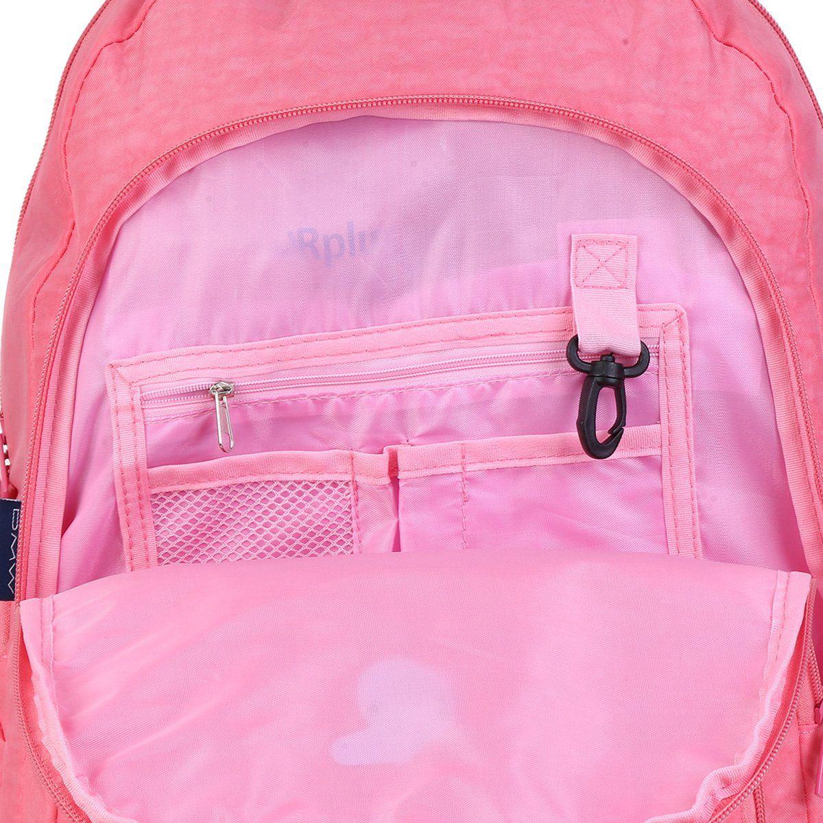 Mochila Capricho Crinkle Pink G 45cm com Rodinhas DMW 11909