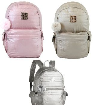 Mochila Rebecca Bonbon Metalizada Clio RB9269 P/Notebook