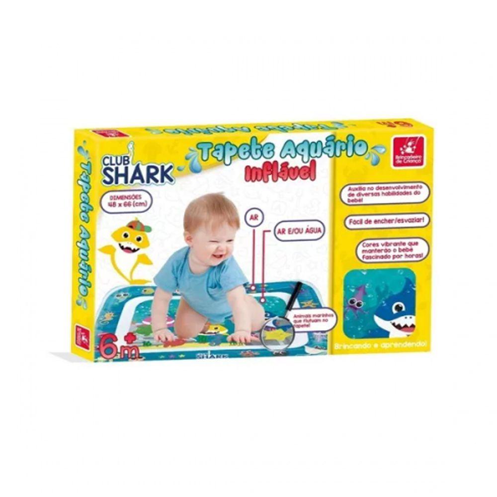 Tapete Aquário Inflável Bebê Club Shark 48cmx66cm Ar ou Água BC3052