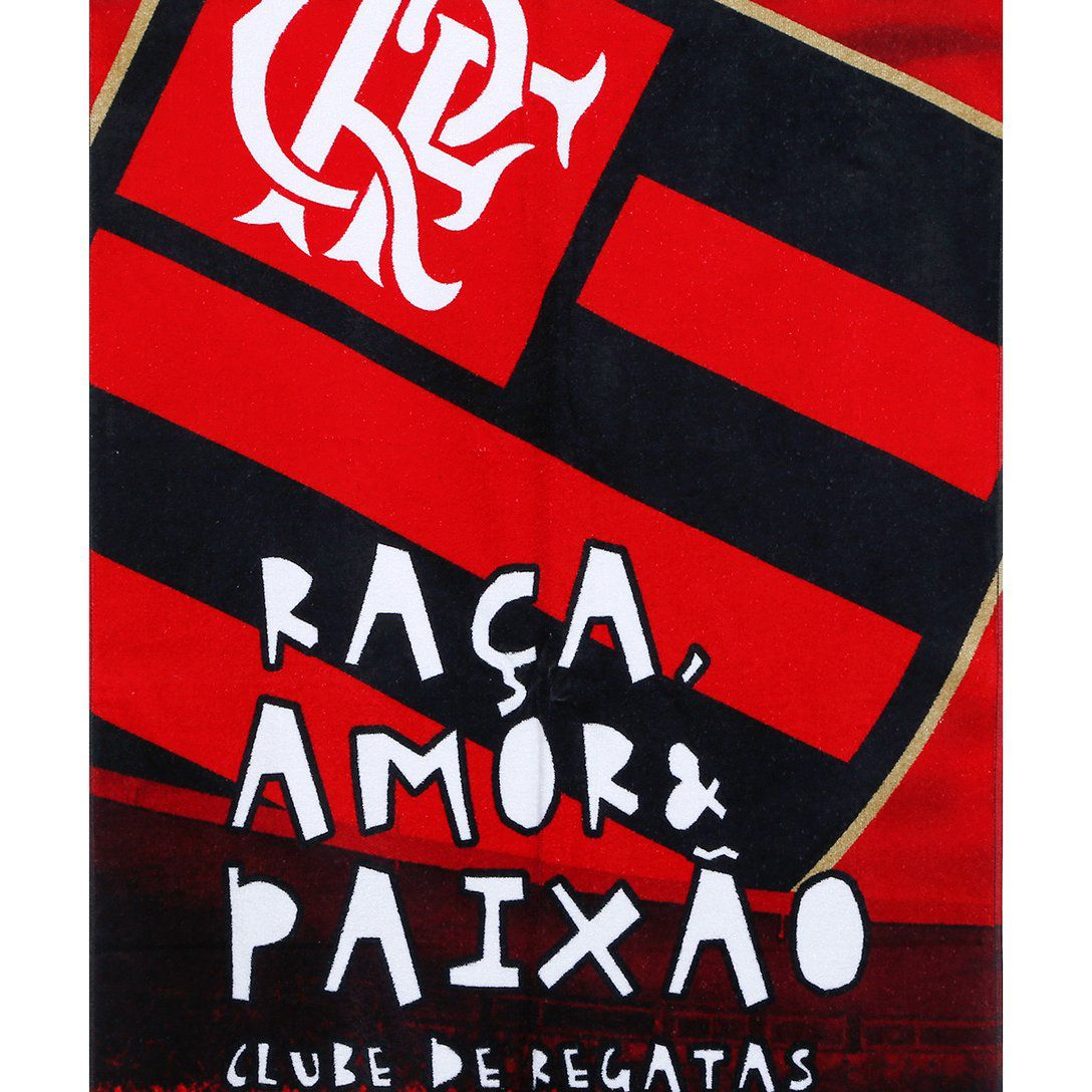 Toalha Flamengo Oficial Veludo Banho 70x140 Bouton