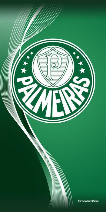 Toalha Palmeiras Oficial Veludo Banho 70x140 Bouton