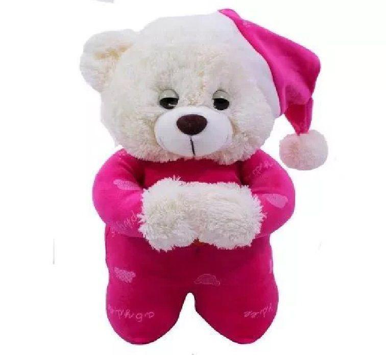 Urso Pelúcia Reza Pai Nosso 32cm Ajoelhado Fofy Toys Rosa/Pink