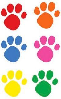 Adesivo Pegadas Coloridas de Cachorro c/ 10 Unidades