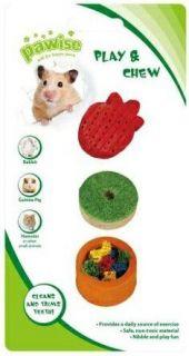 Brinquedo para Roedores Madeira e Bucha Vegetal
