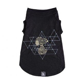 Camiseta Snoopy Geometry Preto Roupinha Roupa