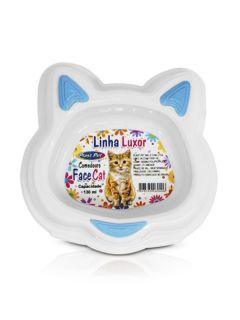 Comedouro Luxor Gato Face Cat Azul 130ml