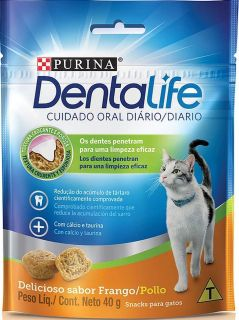 Dental Life Purina Petisco Snack para Gatos