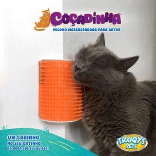 Escova Massageadora para Gatos Coçadinha Cinza TruqysPets