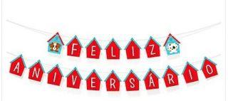 Faixa Decorativa Feliz Aniversário Pet