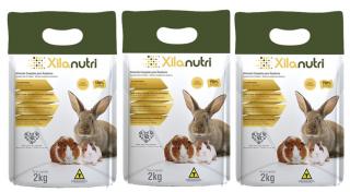 Kit 3 Pacotes de Xilanutri - Alimento Completo para Coelhos e Roedores 2kg