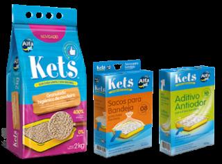 Kit Kets - Granulado de Madeira, Aditivo Antiodor e Sacos para Bandeja