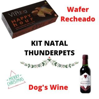 Kit Natal Dog - Wafer e Vinho Pet