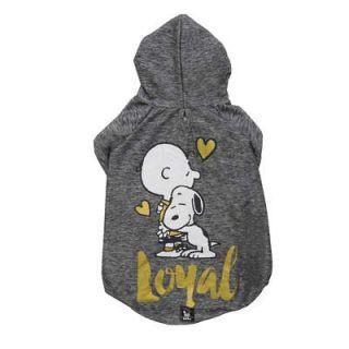Roupinha Moletom p/ Cachorro Grafite Charlie Snoopy Loyal Roupa