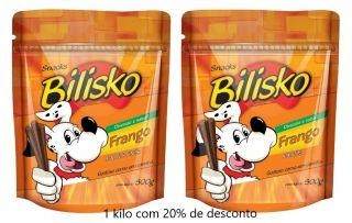 Petisco Bilisko Frango - 1 kilo com desconto