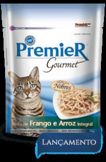 Sachê Premier Gourmet Gatos Frango 70 g