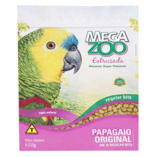 Ração Extrusada Megazoo para Papagaio Original AM16 Regular Bits