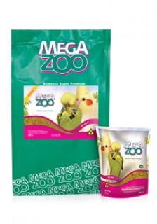 Ração Extrusada Megazoo para Calopsitas e Periquitos Mini Bits 350g
