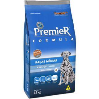 Ração Premier Fórmula Cães Raças Médias Adultos Frango 15kg