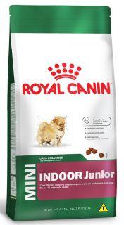 Ração Seca Cão Royal Canin Super Premium Mini Indoor Junior