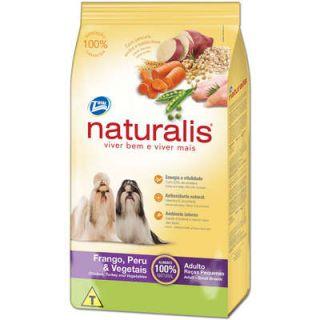 Ração Seca Total Alimentos Naturalis Frango, Peru e Vegetais Raças Pequenas 15kg