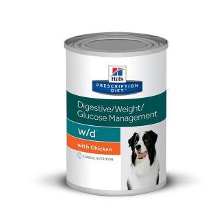 Ração Úmida Hills Prescription Diet w/d Canino Controle de Peso 370g