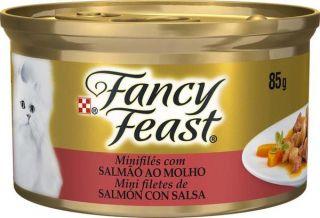 Ração Úmida Nestlé Purina Gato Fancy Feast  Salmão ao Molho 85g