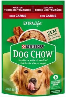Ração Úmida Sachê DogChow Purina Carne Adultos Extra Life