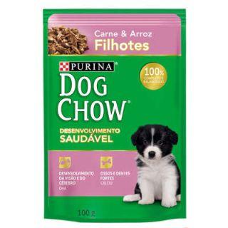 Ração Úmida Sachê DogChow Purina Carne e Arroz Filhotes