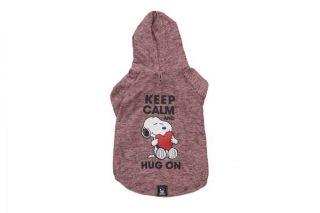 Roupinha Moletom p/ Cachorro Vinho Keep Calm and Hug On Roupa