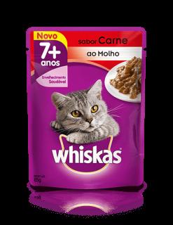 Sachê Whiskas 7+ Carne 85g