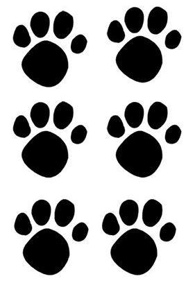Adesivo Pegadas de Cachorro c/ 10 Unidades