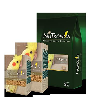 Alimento Extrusado Ração Nutrópica Calopsita Natural 900g