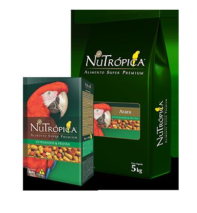 Alimento Extrusado Ração Nutrópica Arara com frutas 600g