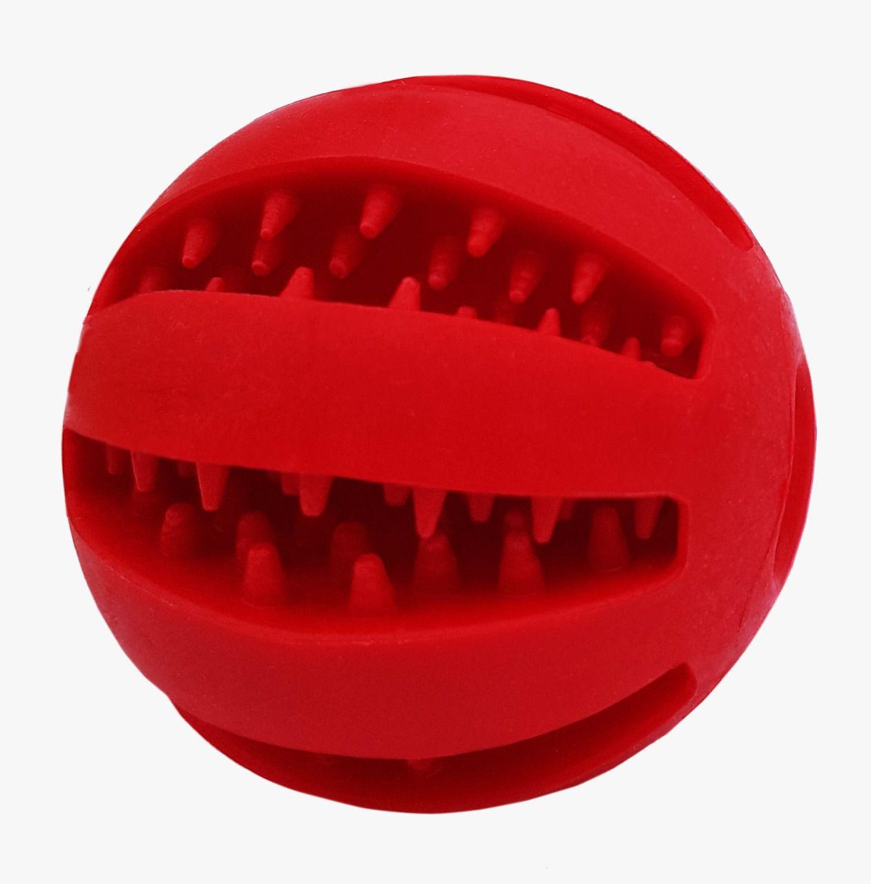Bola Interativa Porta-Ração AttivaBall para Cães e Gatos 6cm Vermelha