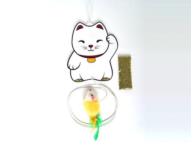 Brinquedo LuckyCat Ratinho com Guizo e Catnip