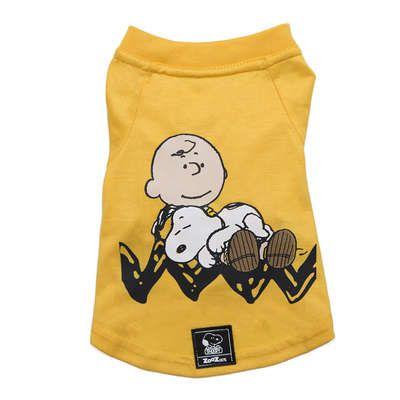 Camiseta Amarela Charlie Snoopy Sleeping Roupinha Roupa