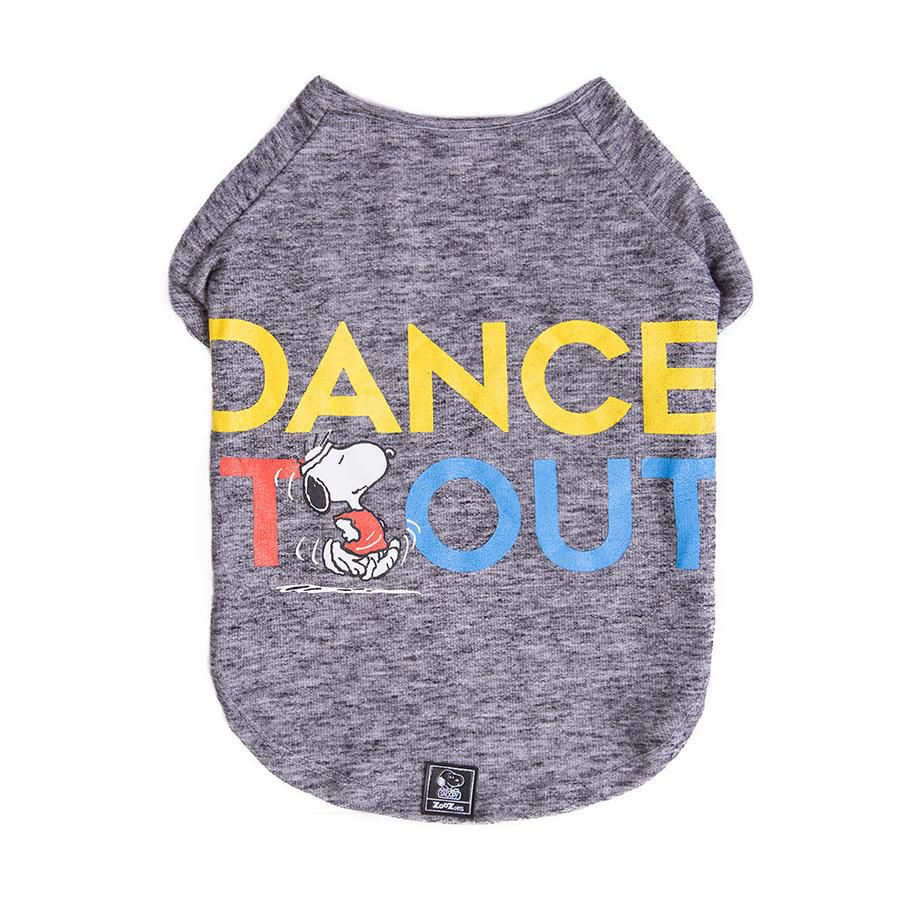 Camiseta Inverno Snoopy Dance it Out Roupinha Roupa