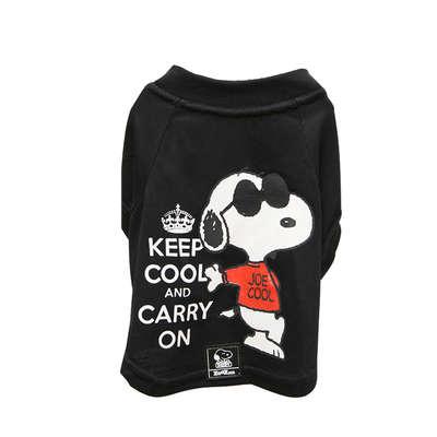Camiseta Preta Snoopy Keep Cool Roupinha Roupa