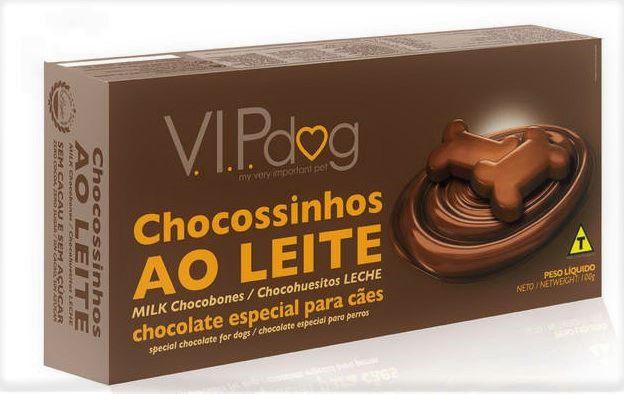 Chocossinhos Vip Dog de Chocolate ao Leite 100 gr