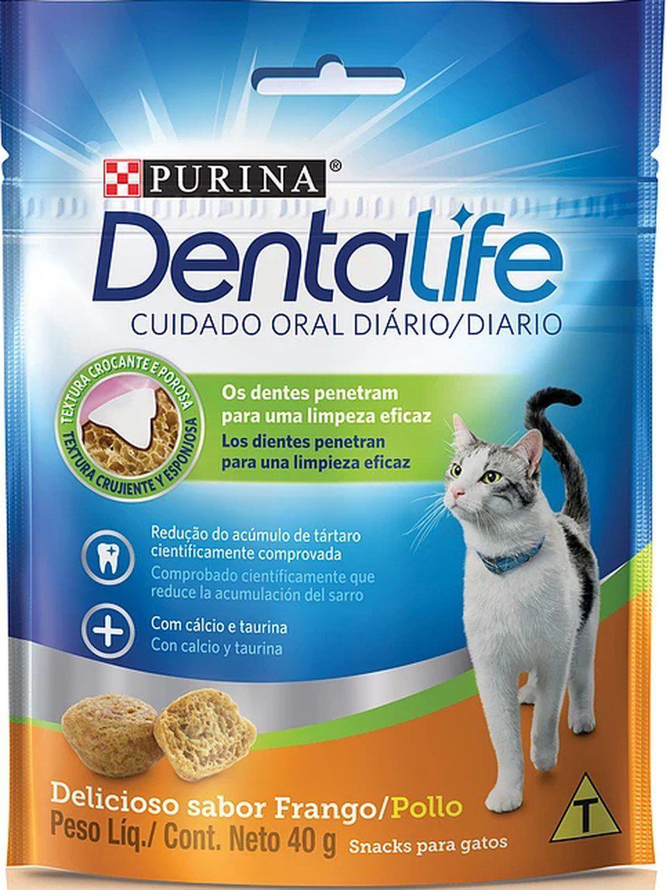 Dental Life Purina Petisco Snack para Gatos