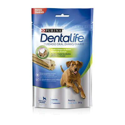 Dental Life Purina Petisco Snack para Cães Adulto Porte Grande