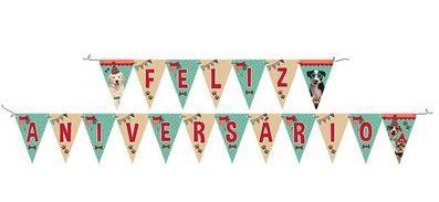 Faixa Banner Feliz Aniversário Pet